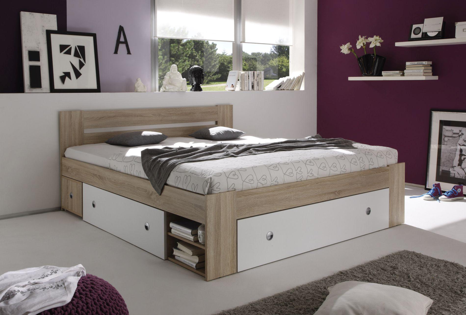 Futonbett stefan einzelbetten schlafzimmer sortiment pack zu m bel sb und k chen discount - Schlafzimmer stefan ...
