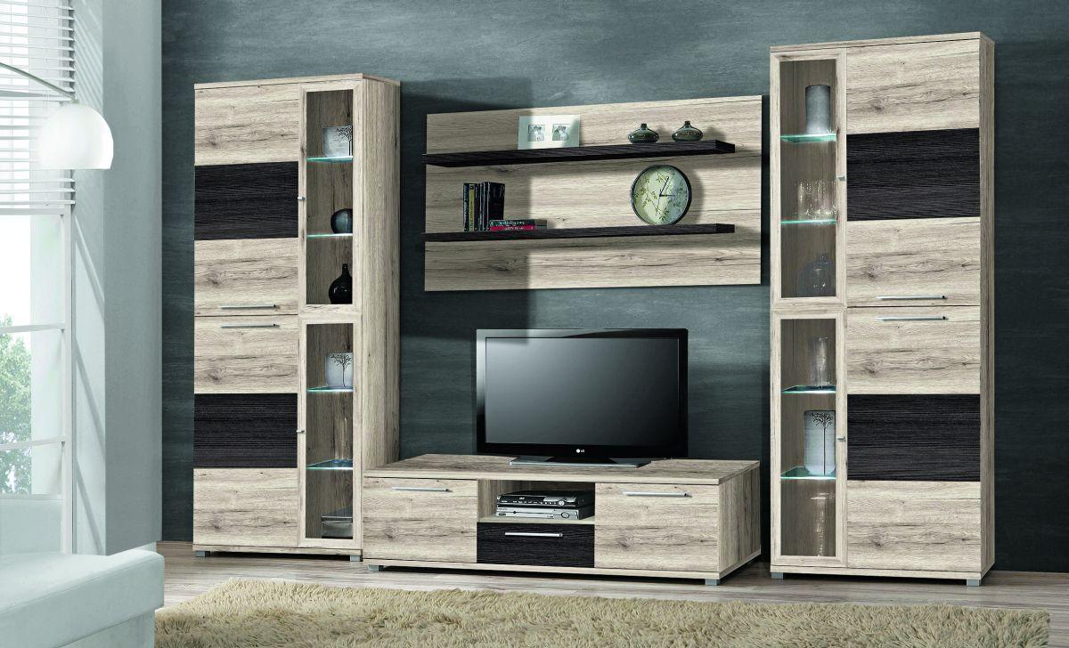 wohnwand allister wohnw nde wohnzimmer sortiment pack zu m bel sb und k chen discount. Black Bedroom Furniture Sets. Home Design Ideas