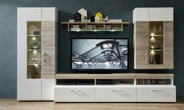 wohnwand spirit wohnw nde wohnzimmer sortiment pack zu m bel sb und k chen discount. Black Bedroom Furniture Sets. Home Design Ideas