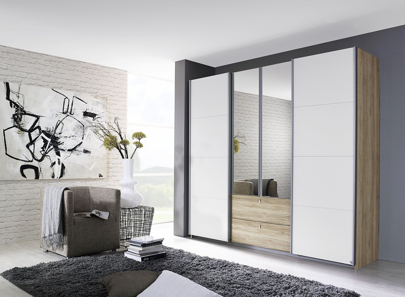 schwebet renschrank kombino kleiderschr nke. Black Bedroom Furniture Sets. Home Design Ideas
