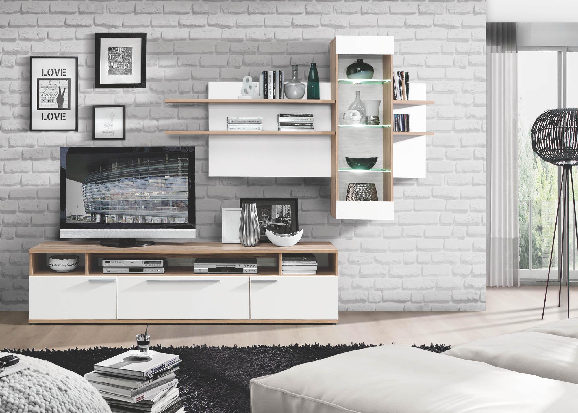 wohnwand freedom wohnw nde wohnzimmer sortiment. Black Bedroom Furniture Sets. Home Design Ideas