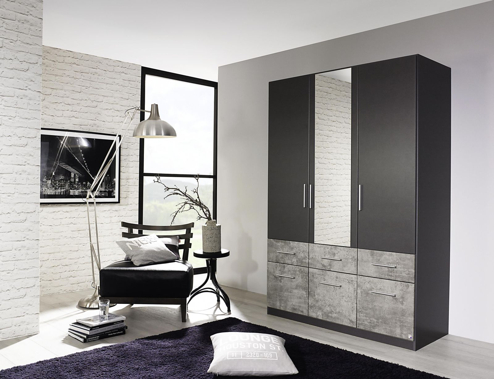 kleiderschrank lorch extra kleiderschr nke. Black Bedroom Furniture Sets. Home Design Ideas